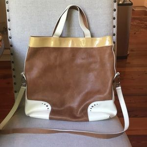 Leather Longchamp Tote